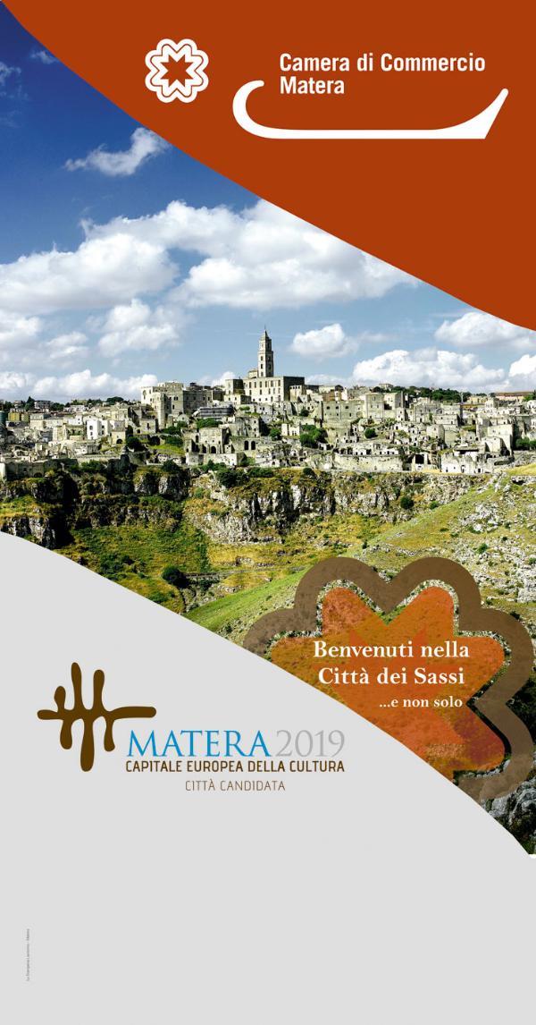 Totem della Camera di Commercio di Matera e Matera 2019