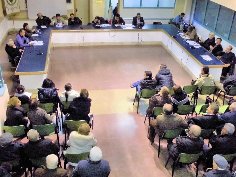 Una fase del consiglio comunale di Tricarico - 15 novembre 2012