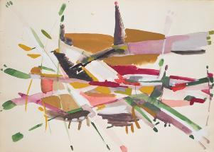 Antonio Sanfilippo, 1952, tempera, cm 25x35 - Matera