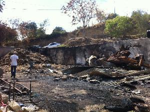 Azienda Panio coinvolta nell'incendio di Pisticci di agosto 2012 - Matera