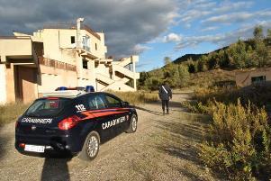 Immagine di repertorio, Carabinieri in localit� Santa Domenica agro del comune di Calciano (MT) - Matera
