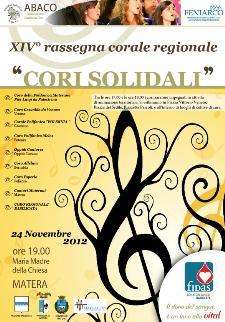 Cori Solidali - XIV° rassegna corale regionale - 24 novembre 2012 - Matera