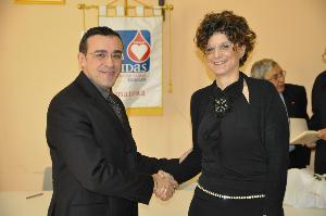 Da sx il Presidente uscente Francesco Salvatore e la neopresidente Mariangela Giacumbo - Matera