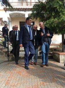 De Filippo e Gabrielli in visita a Rotonda