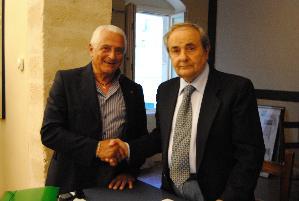 Ivan Focaccia e il presidente del seggio elettorale De Ruggieri - Matera