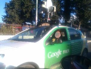 L´auto di Google Street View a Matera