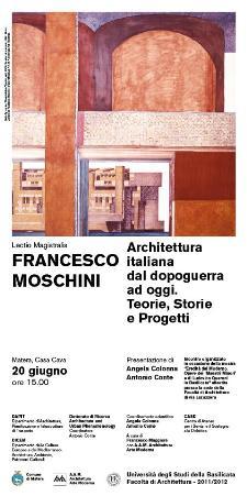 la locandina della mostra di architettura - Matera