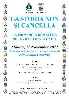 La Storia non si cancella - 11 novembre 2012 - Matera