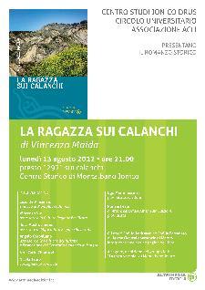 """Presentazione de """"LA RAGAZZA SUI CALANCHI"""" - 13 agosto 2012 - Matera"""