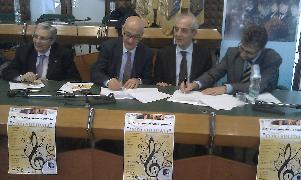 Sottoscrizione del protocollo d´intesa con cui 8 cori lucani si impegnano a sostenere la candidatura della città dei Sassi a Capitale europea della cultura nel 2019