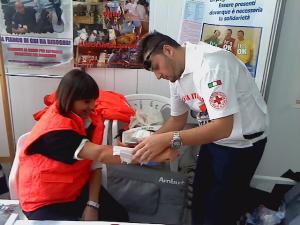 Truccatori e dei Simulatori della Croce Rossa