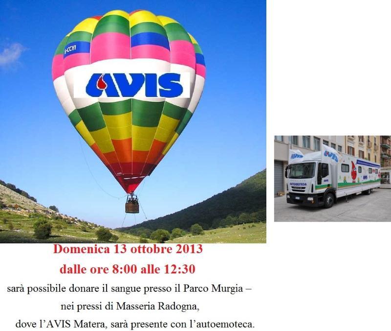AVIS Matera con l´autoemoteca al Matera Balloon Festival