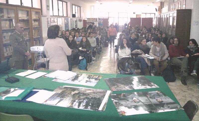 Esercito nelle scuole, tappa di Matera al Liceo Classico
