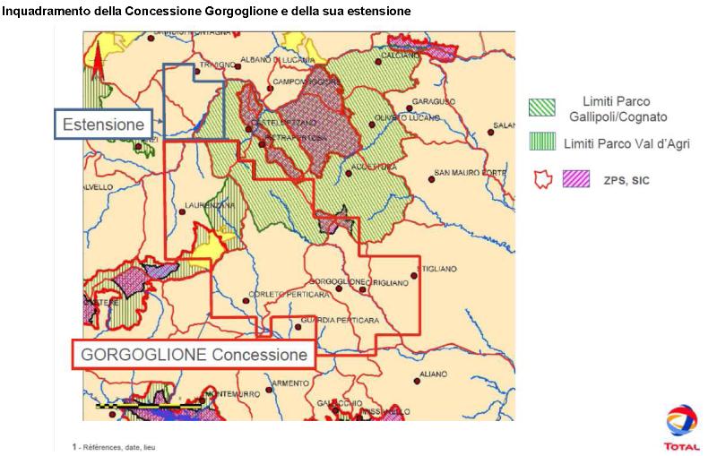 Estensione concessione Gorgoglione