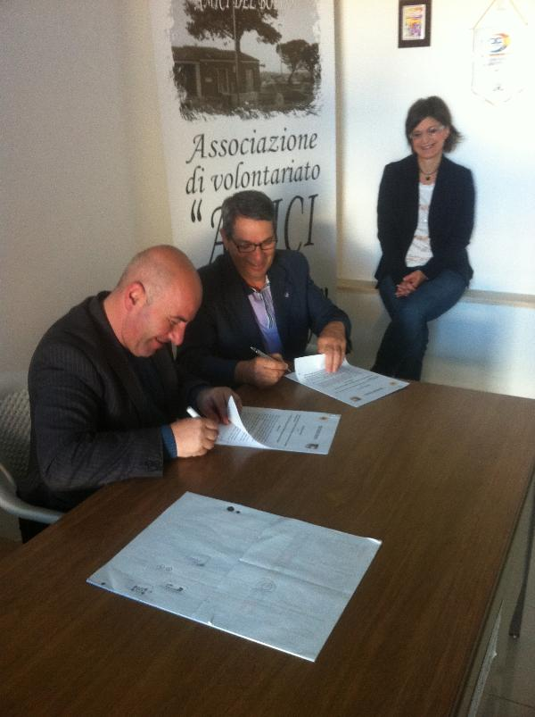 """Firmata dell´intesa tra """"Amici del Borgo"""" e FIDAS"""
