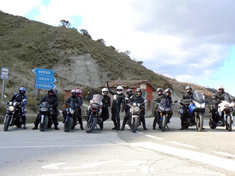 Gruppo di motociclisti appulo lucani