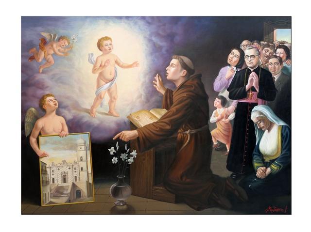 Il dipinto donato da Iosca al Convento di Sant´Antonio di Stigliano