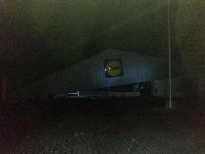 Il LIDL crollato a Montescaglioso (foto Facebook)
