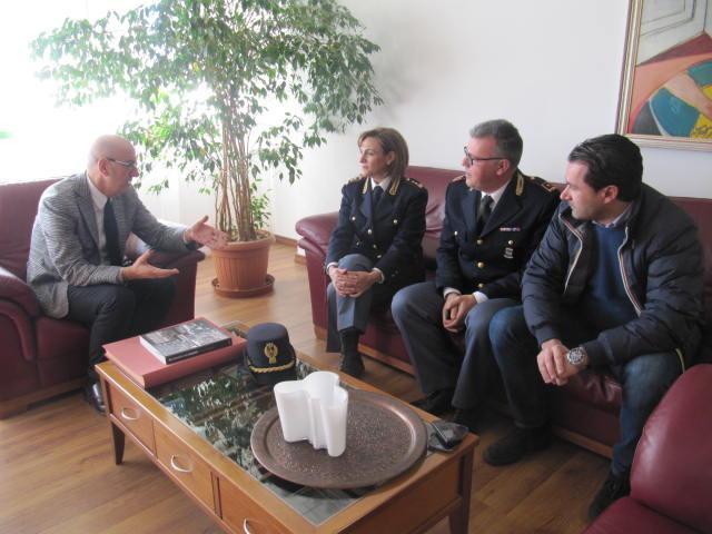 In municipio il nuovo comandante della Polizia stradale, Laura Bruno