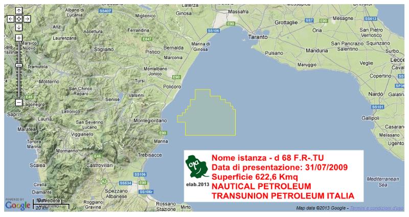 Istanza di ricerca idrocarburi della Transunion Petroleum