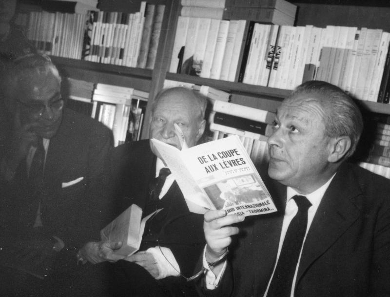 Leonardo Sinisgalli, Giuseppe Ungaretti, Tristan Tzara, 1963