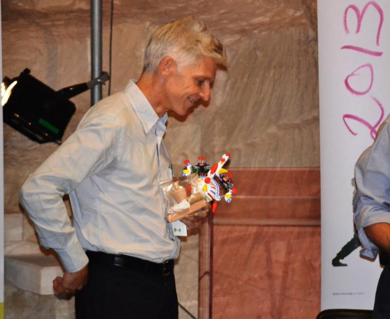 Materadio 2013 - Ministro delle attività culturali e del Turismo, Massimo Bray e il cucù (foto Francesco Calia)