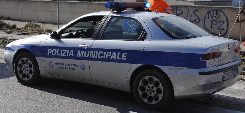 Polizia municipale (foto SassiLand)