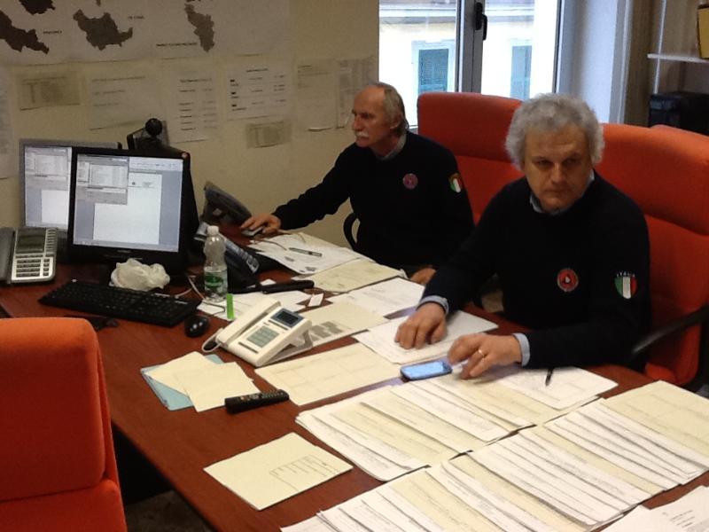 Protezione Civile al lavoro