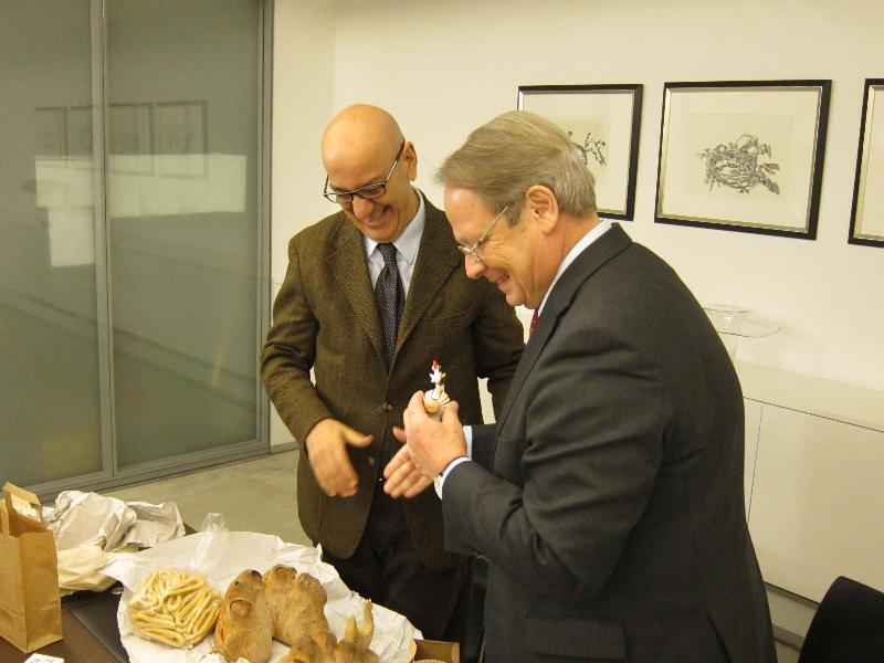 Salvatore Adduce e Michiel den Hond, ambasciatore olandese in Italia