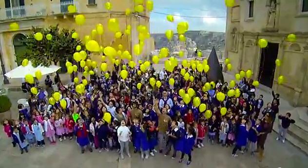 Un fotogramma del video di presentazione della candidatura per Matera 2019