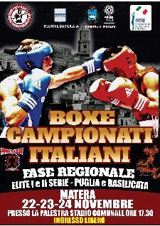 Boxe Campionati Italiani - Fase regionale Elite I e II serie - Puglia e Basilicata - Matera