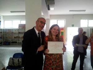 Cerimonia di premiazione per il Terzo posto a Trento per la Nicola Festa