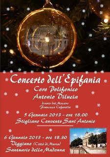Concerto dell'Epifania a Stigliano - 6 gennaio 2013 - Matera