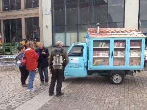 Il bibliomotocarro al Salone del Libro di Torino