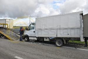 Il furgone nell´incidente del 25 novembre 2013 (foto SassiLand)
