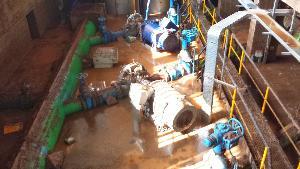 Impianto di sollevamento idrico bloccato a causa dell´alluvione