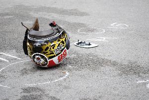 Incidente tra scooter e auto - 22 aprile 2013 (foto SassiLand)