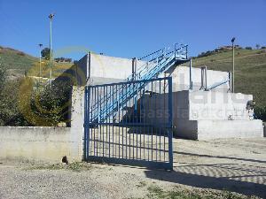 L´ingresso del depuratore di San Mauro Forte (foto Antonio Grasso)