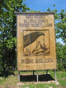 Parco Regionale di Gallipoli Cognato Piccole Dolomiti Lucane - Matera