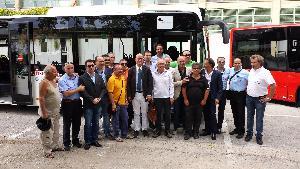 Presentazione dei nuovi mezzi per il trasporto urbano a Matera (foto Francesco Calia)