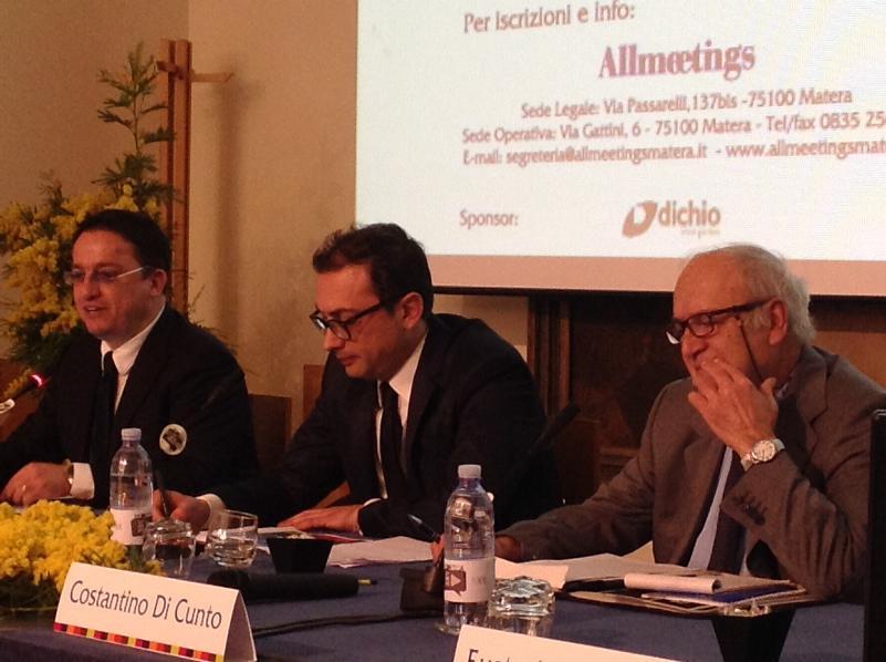 Da sinistra, Filippo Olivieri, Mario Gucci, Costantino Di Cunto