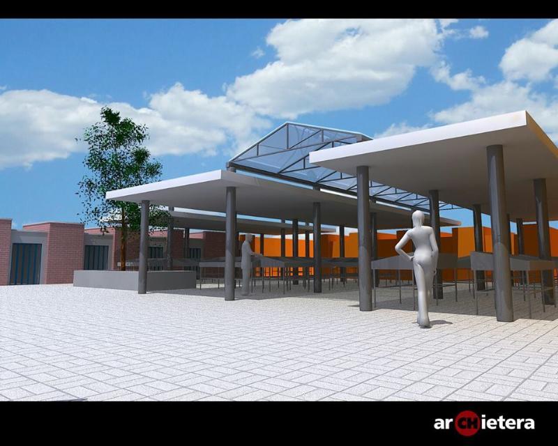 """Ecco come sarà la """"nuova"""" piazza del mercato ortofrutticolo di Piccianello"""
