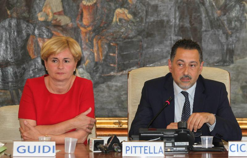 Federica Guidi e Marcello Pittella