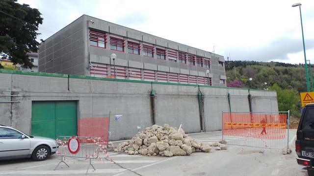 Frana al Centro sociale di Stigliano (foto stiglianomt.it)