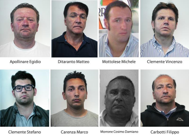 """Gli arrestati dell´operazione """"Tritolo"""""""