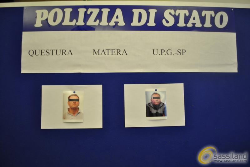 Gli arrestati Luigi Montemurro e Giuseppe Barreca