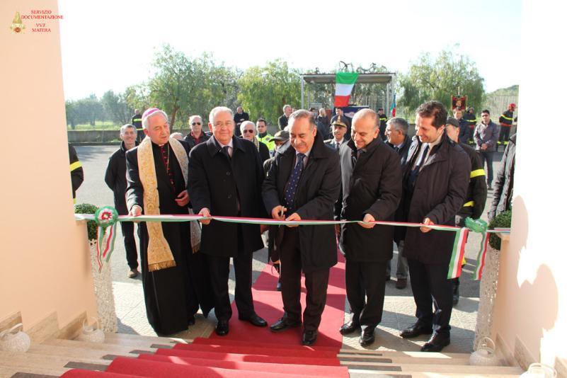 Inaugurazione dei distaccamenti dei Vigili del Fuoco a Ferrandina e Tinchi - 10 gennaio 2014