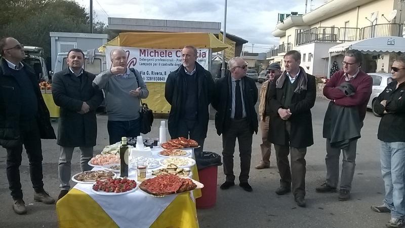 Inaugurazione dell´Isola della Bottega Italiana e il Mercato di Campagna Amica a Salandra Scalo, presso il Motel Basentum