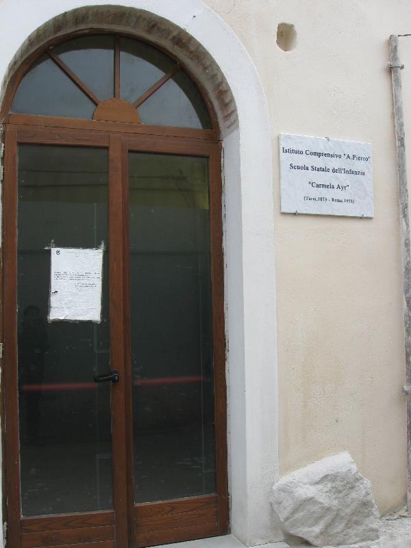 Ingresso scuola infanzia centro storico  - Tursi