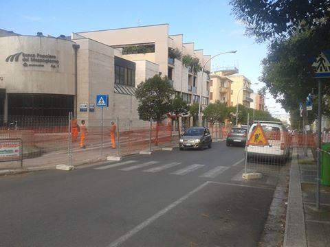 Lavori in via Nazionale a Matera - 25 agosto 2014